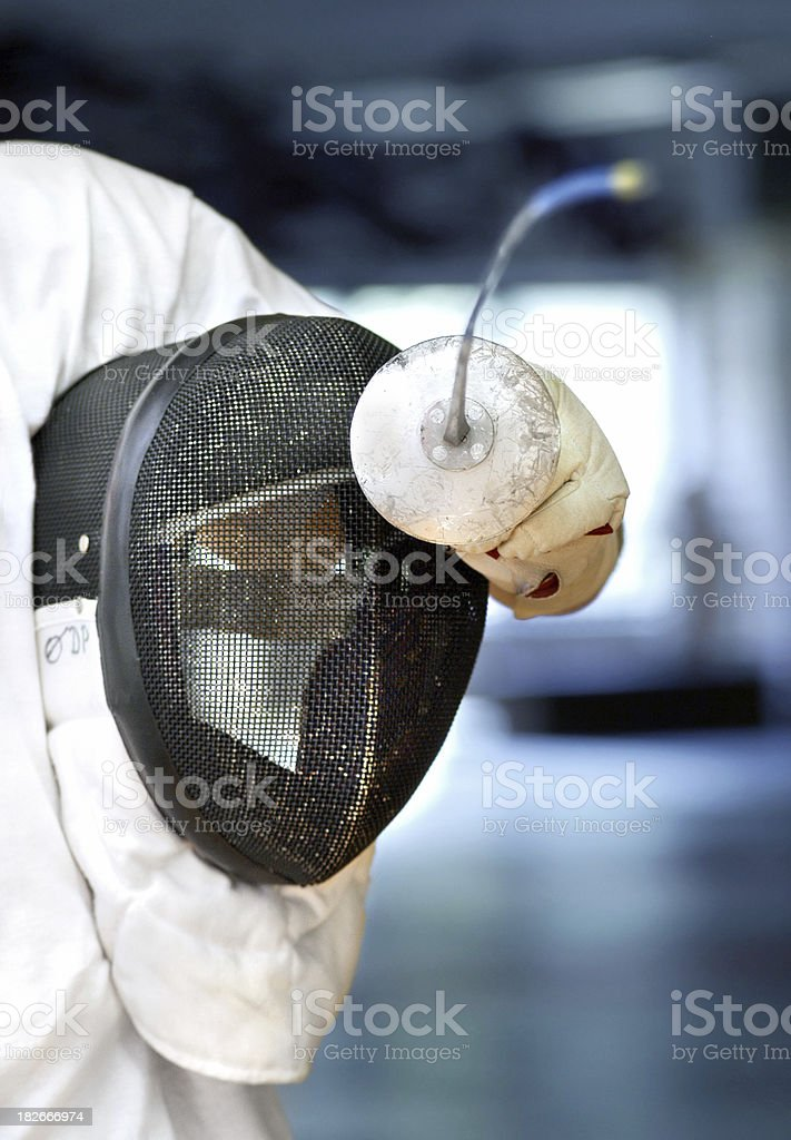 fencer stock photo