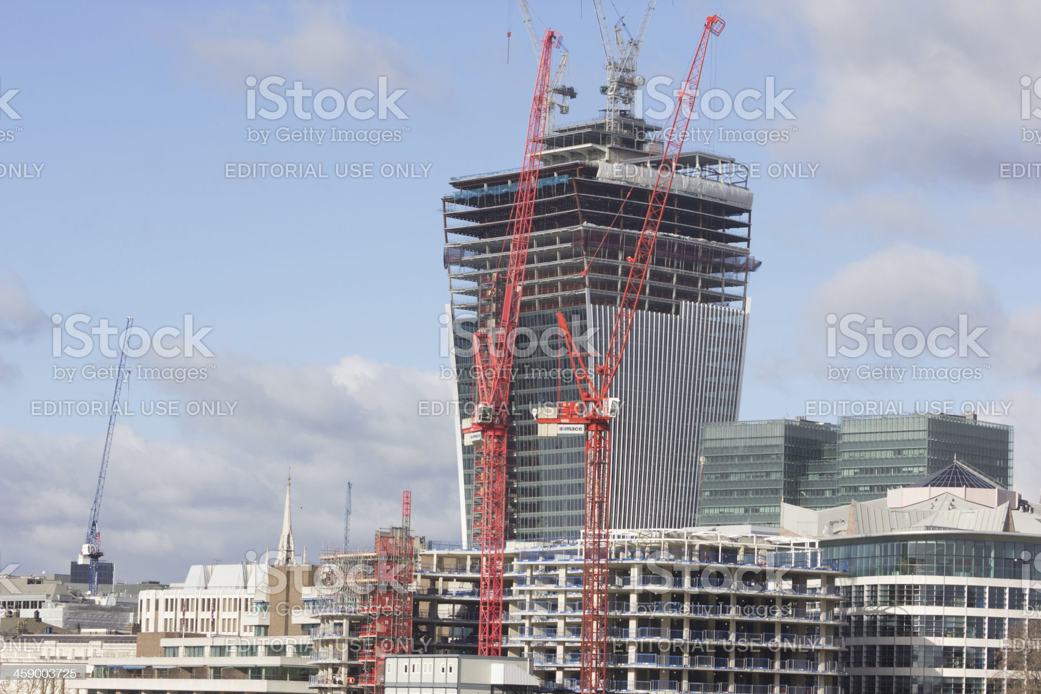 Fenchurch Street in London, England royalty-free stock photo