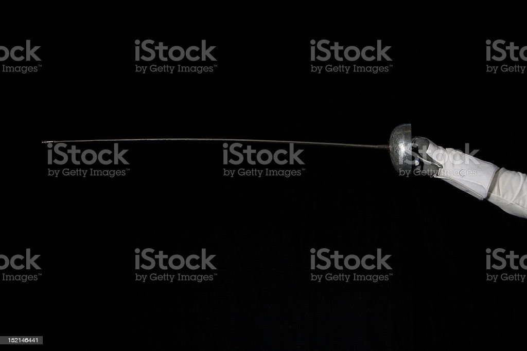 Fencing Arm stock photo