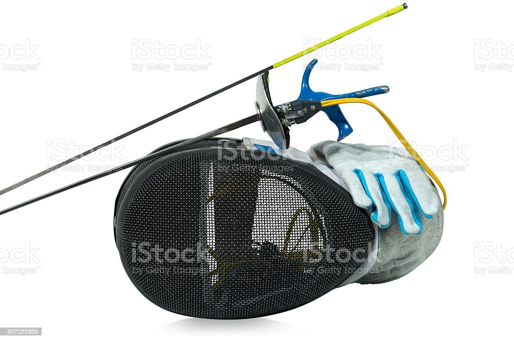 Fencing Foil Equipment Isolated on White stock photo