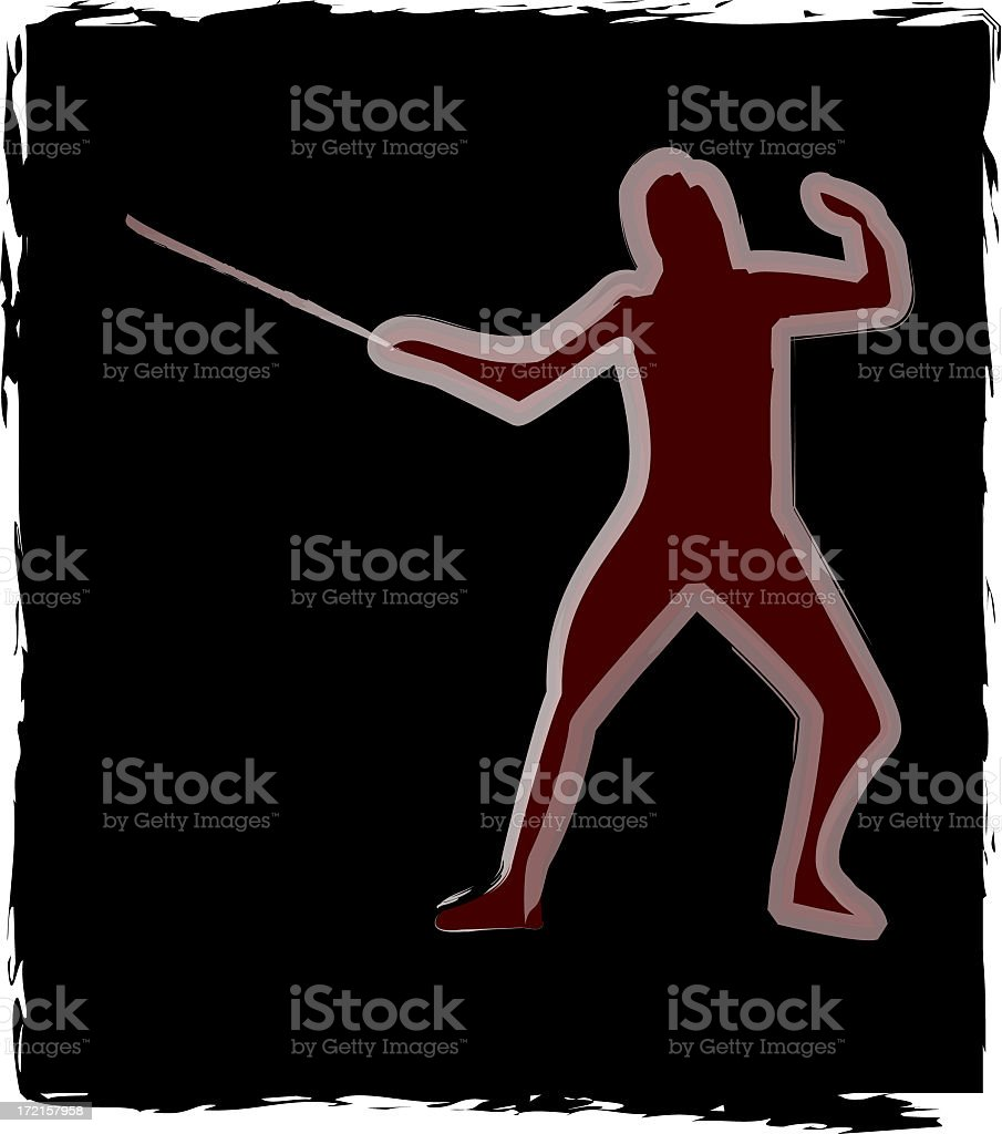 Fencing royalty-free stock photo