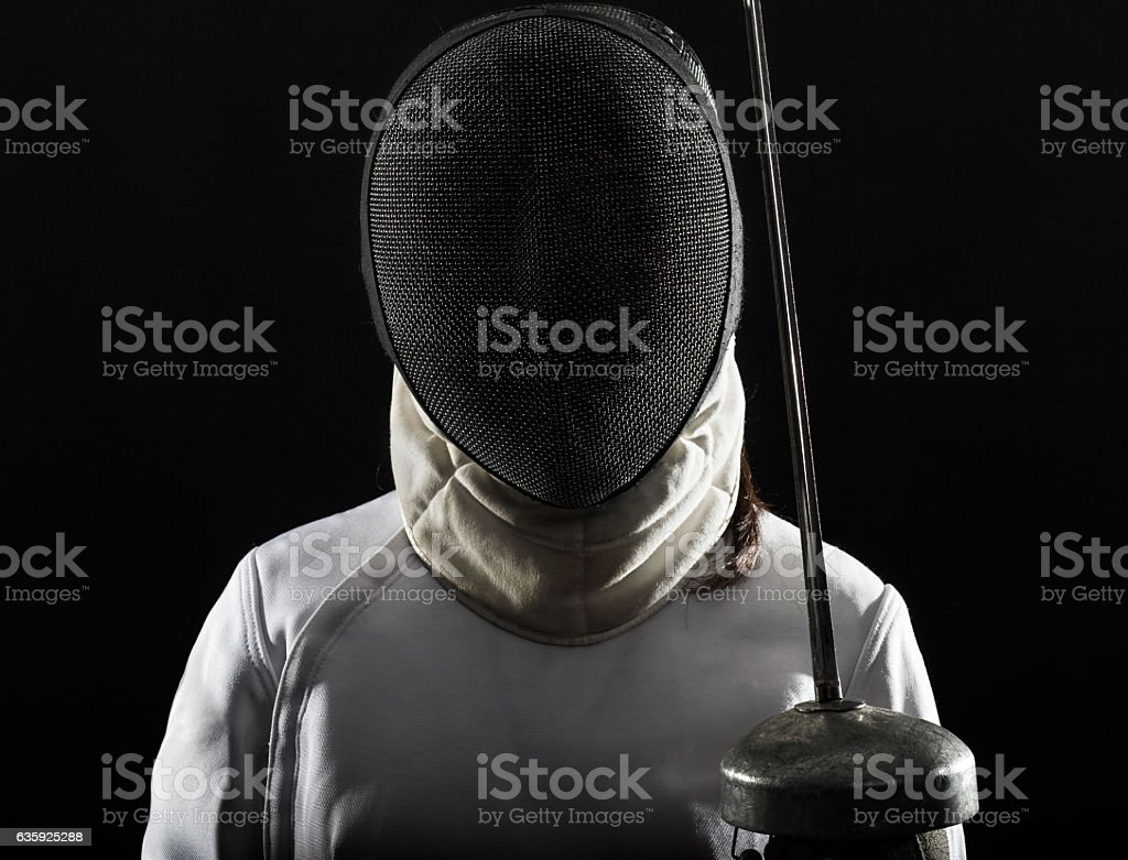 Fencing sport. stock photo