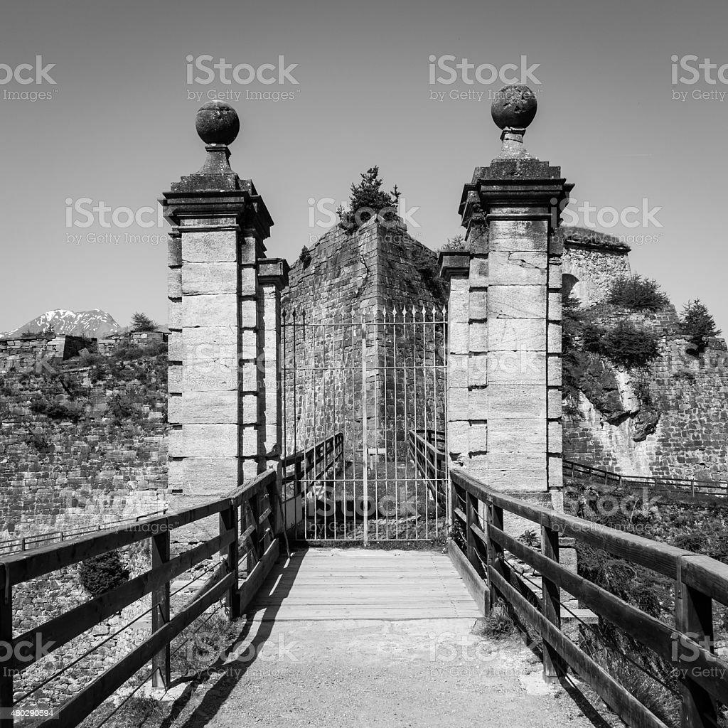 Fenestrelle Abandoned Fort stock photo