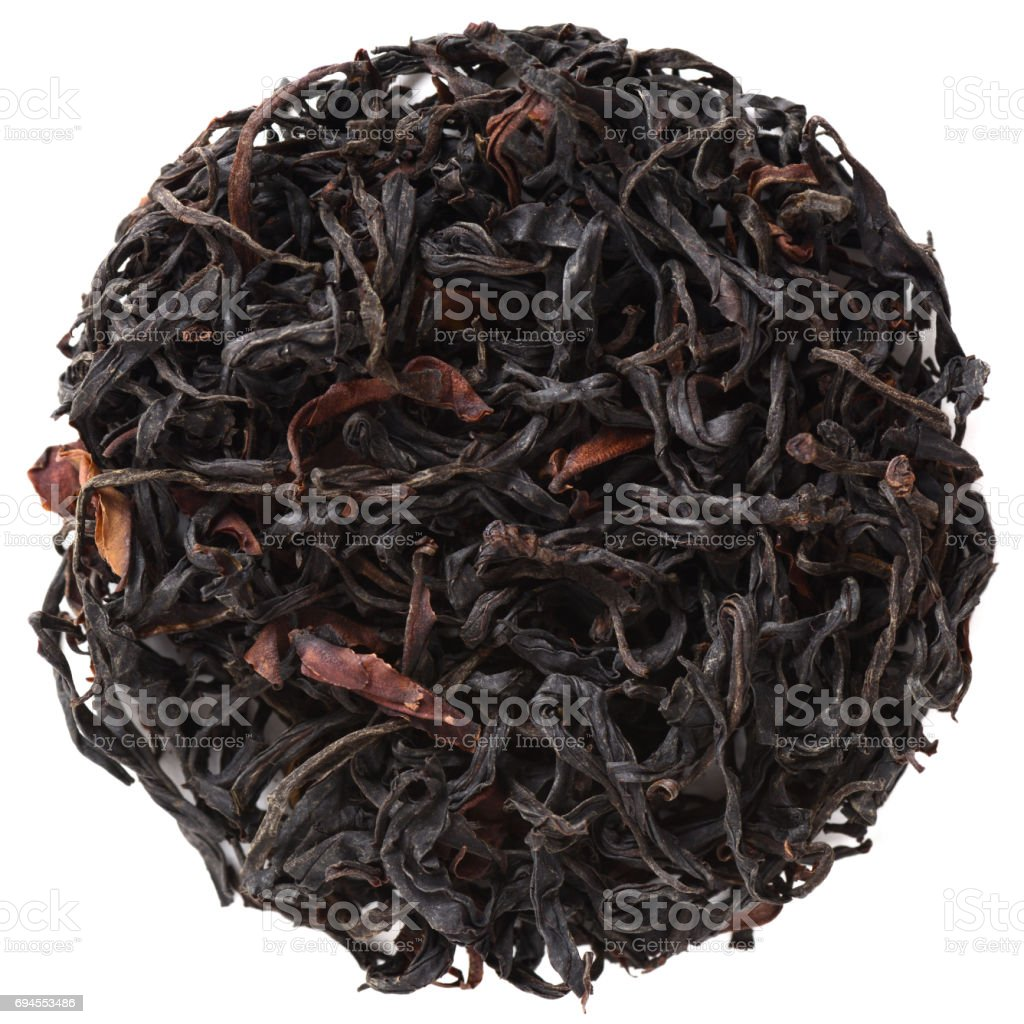 Feng Qing Ye Sheng Hong Cha wild purple tea solated stock photo
