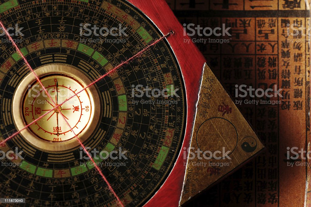 Feng Shui Compass royalty-free stock photo