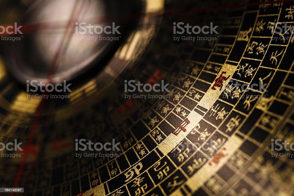 Feng shui compass stock photo