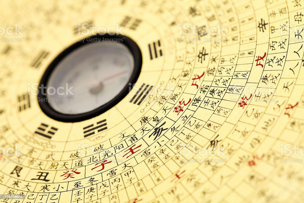 Feng shui compass. stock photo