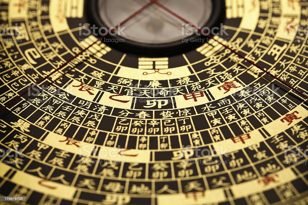 Feng shui compass. royalty-free stock photo