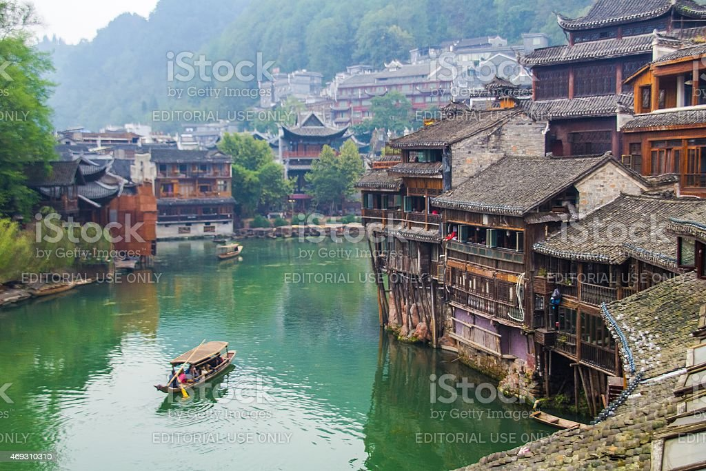 fenghuang ancient town,china stock photo