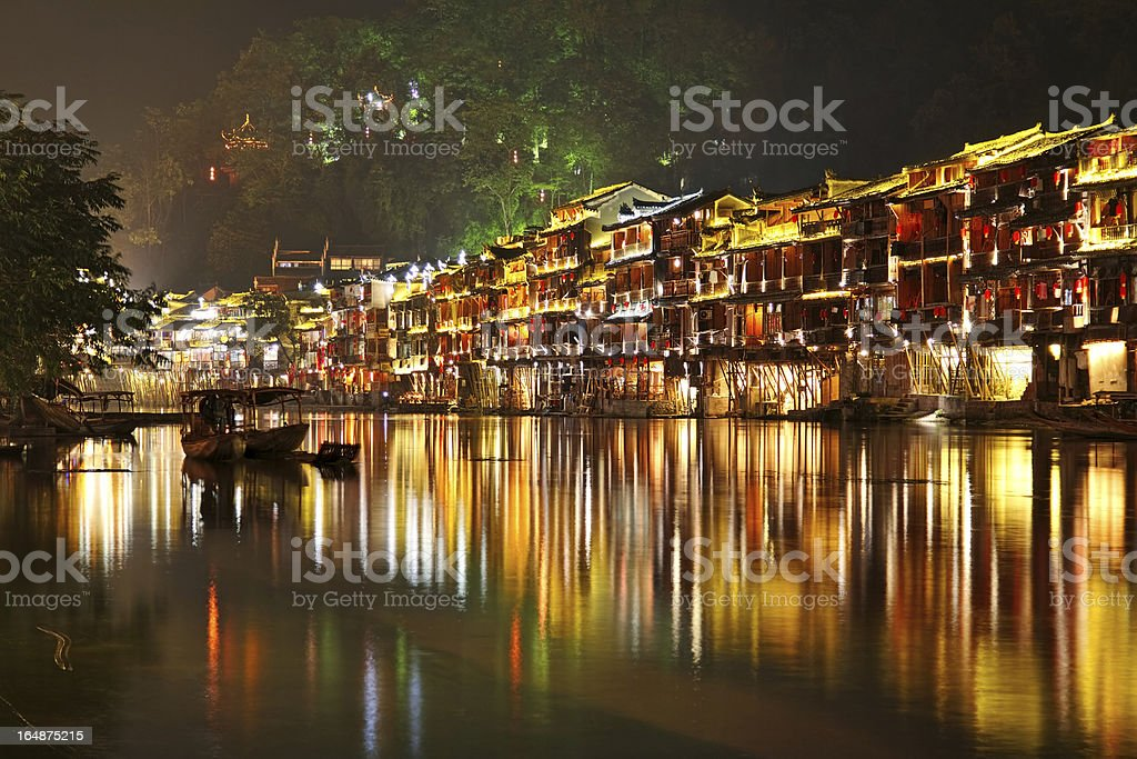 Fenghuang at night royalty-free stock photo