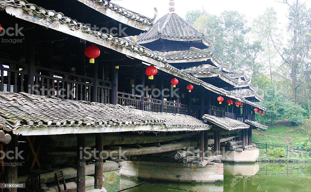Fengyu ponte di Dong nazionalità/vento e pioggia ponte di Guangxi foto stock royalty-free