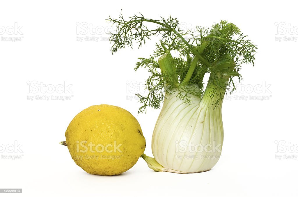 fennel and lemon royalty-free stock photo