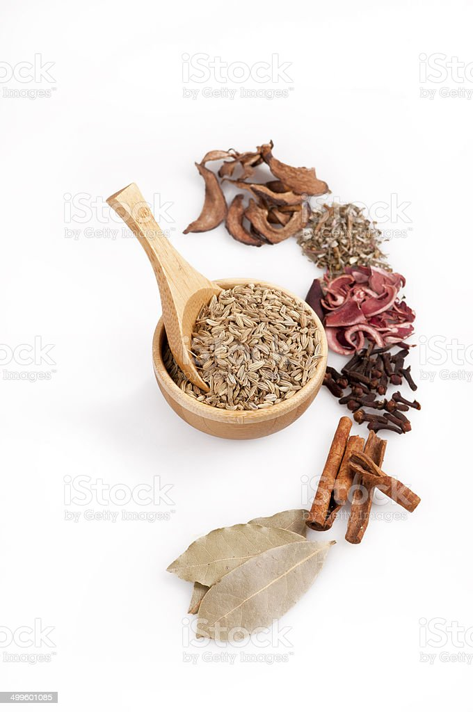 fennel and other herbs stock photo