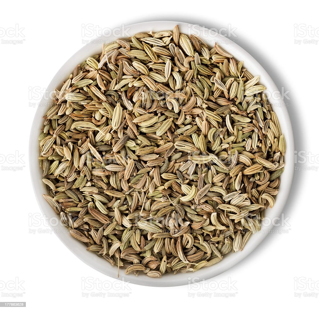 Fennel  in plate isolated stock photo