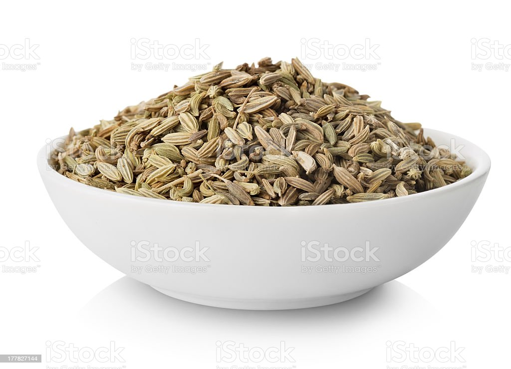 Fennel  in plate stock photo