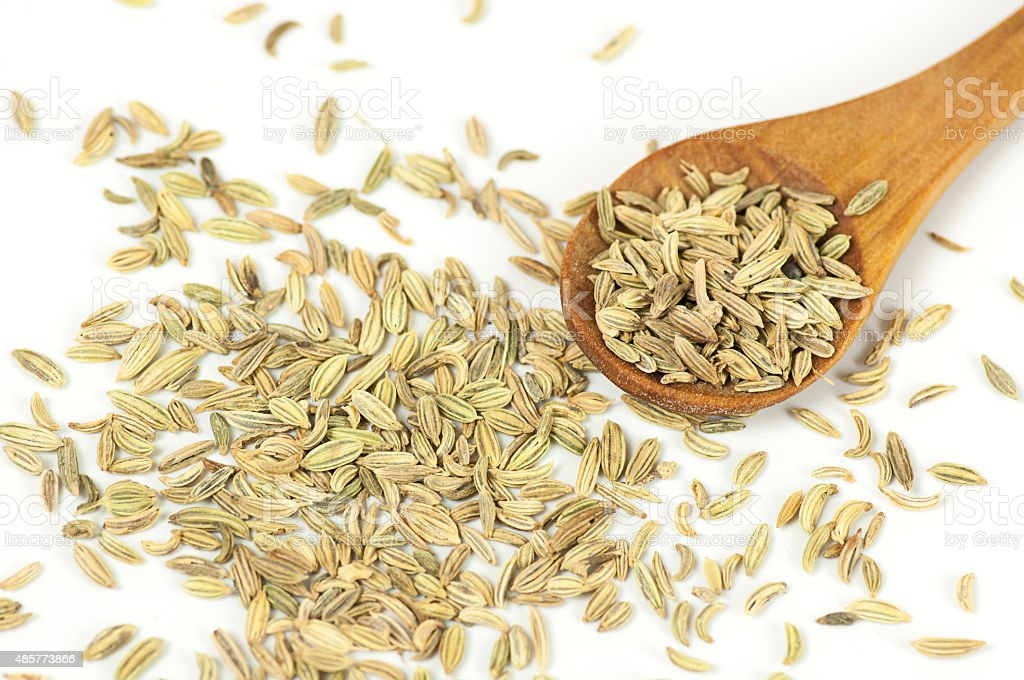 Fennel seeds close up stock photo