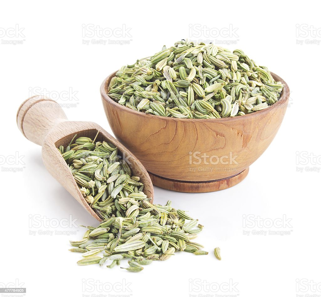 fennel seeds isolated on white stock photo