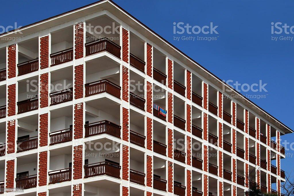 Fenster und Balkonen stock photo