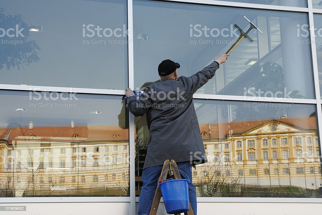 Fensterputzer stock photo