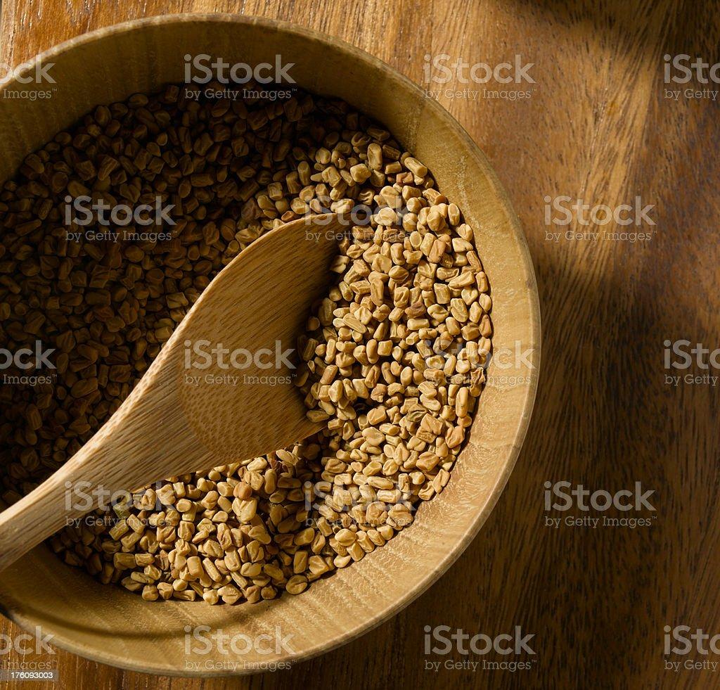 fenugreek seed stock photo
