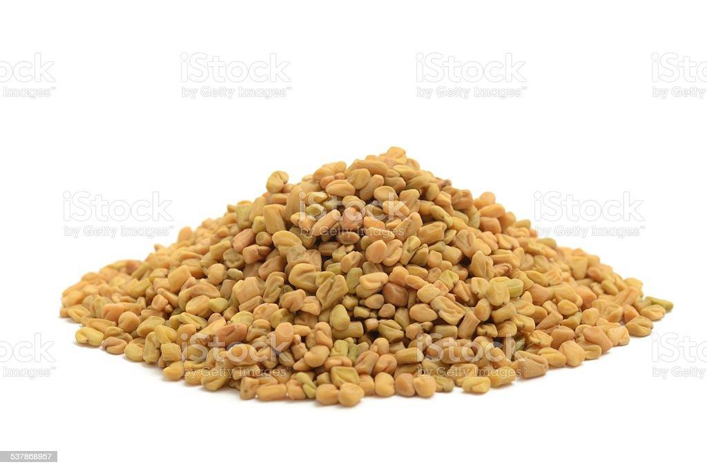 Fenugreek seeds stock photo