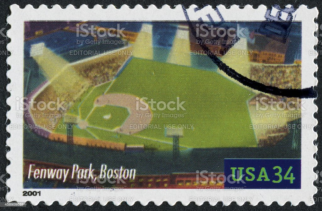 Fenway Park, Boston Stamp stock photo