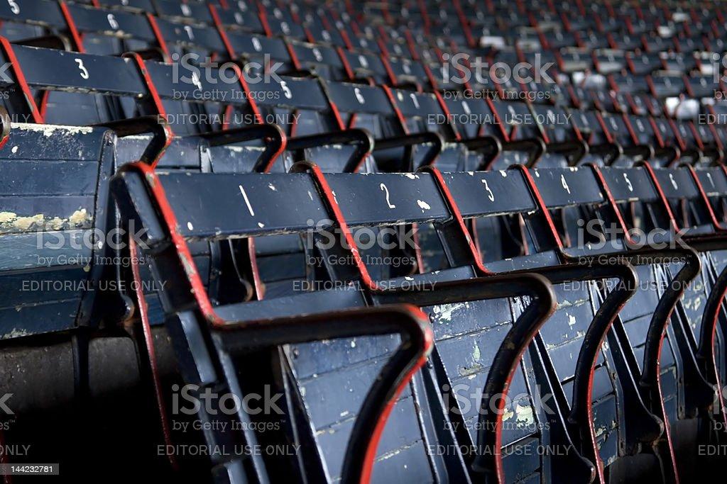 Fenway Park Stadium Seats royalty-free stock photo