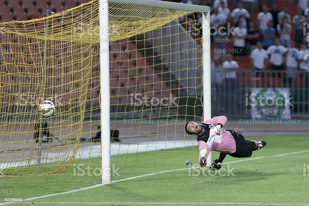 Ferencvarosi TC vs. Sliema UEFA EL football match stock photo