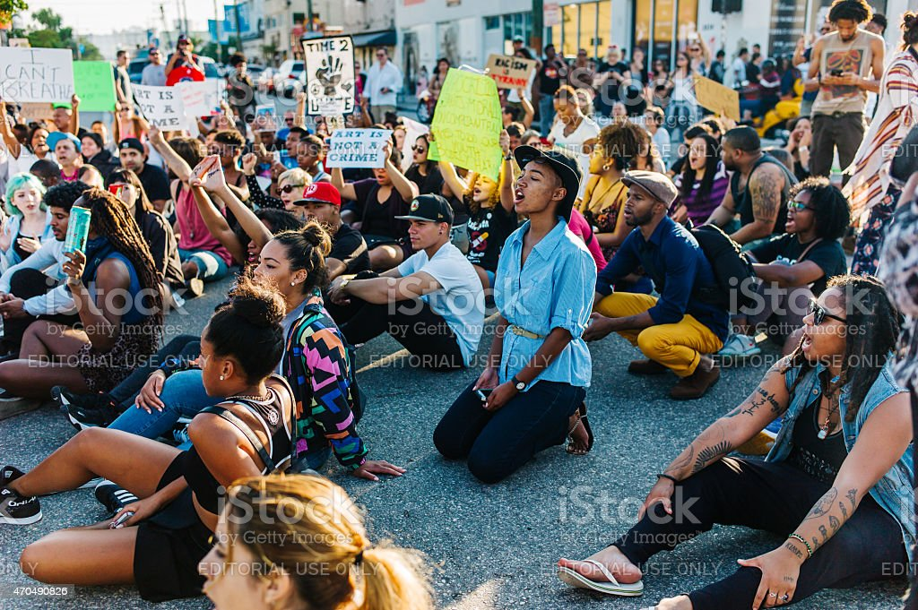Ferguson Unrest Protest stock photo