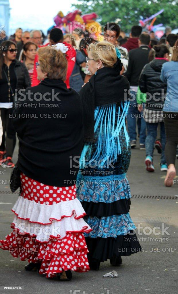 Feria de Abril Barcelona stock photo