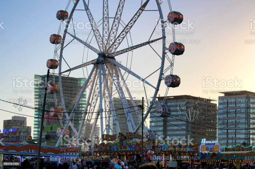 Feria de Abril Carousel stock photo