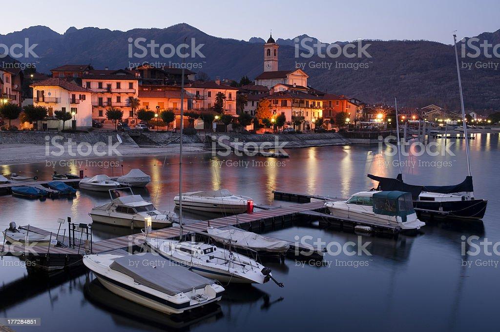 Feriolo on Lake Maggiore stock photo