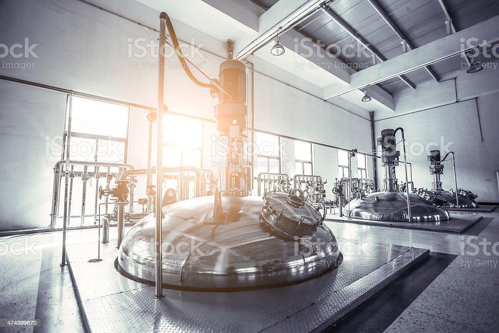 Fermentation factories stock photo