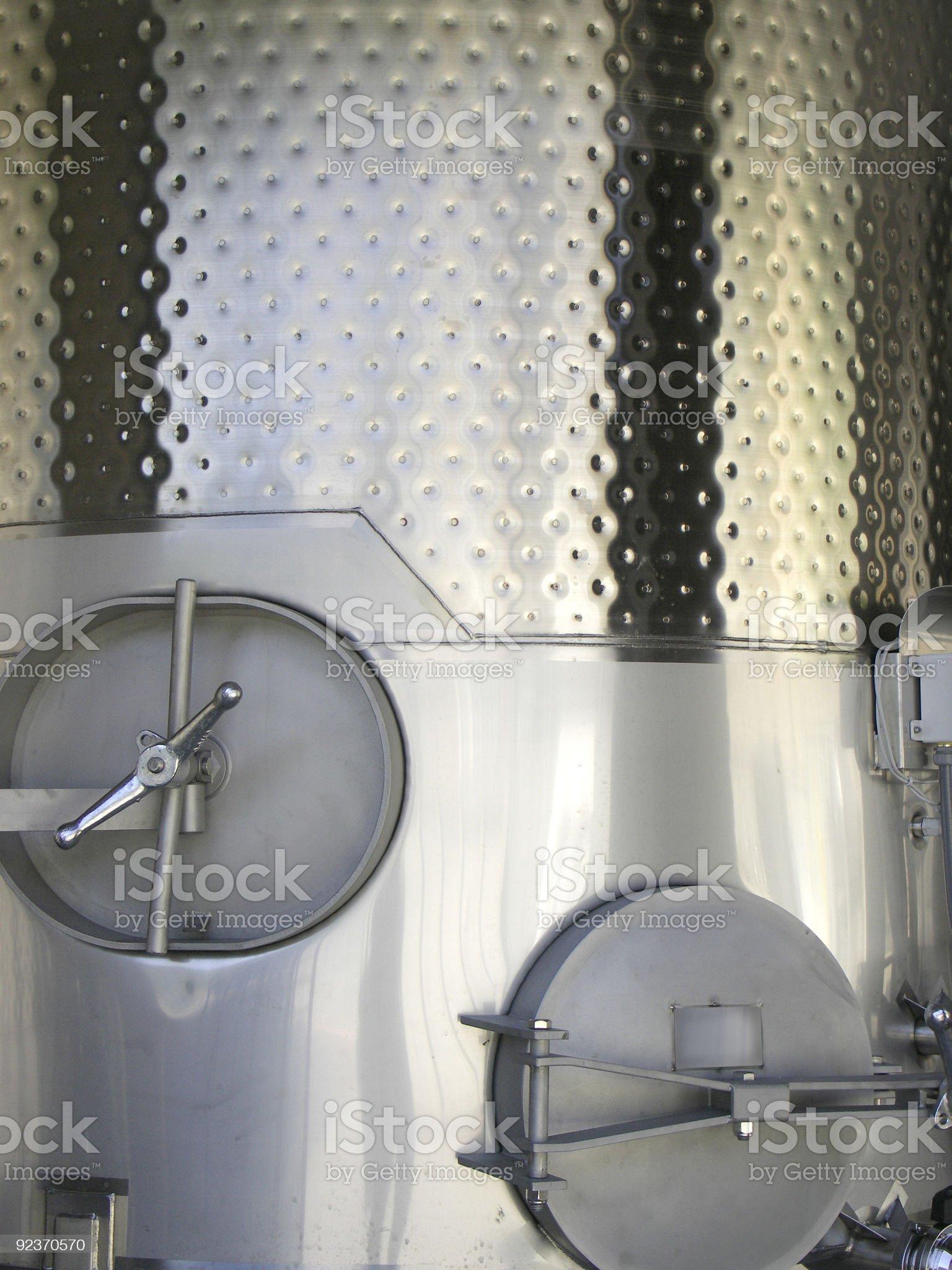 Fermentation tank in a Napa winery royalty-free stock photo
