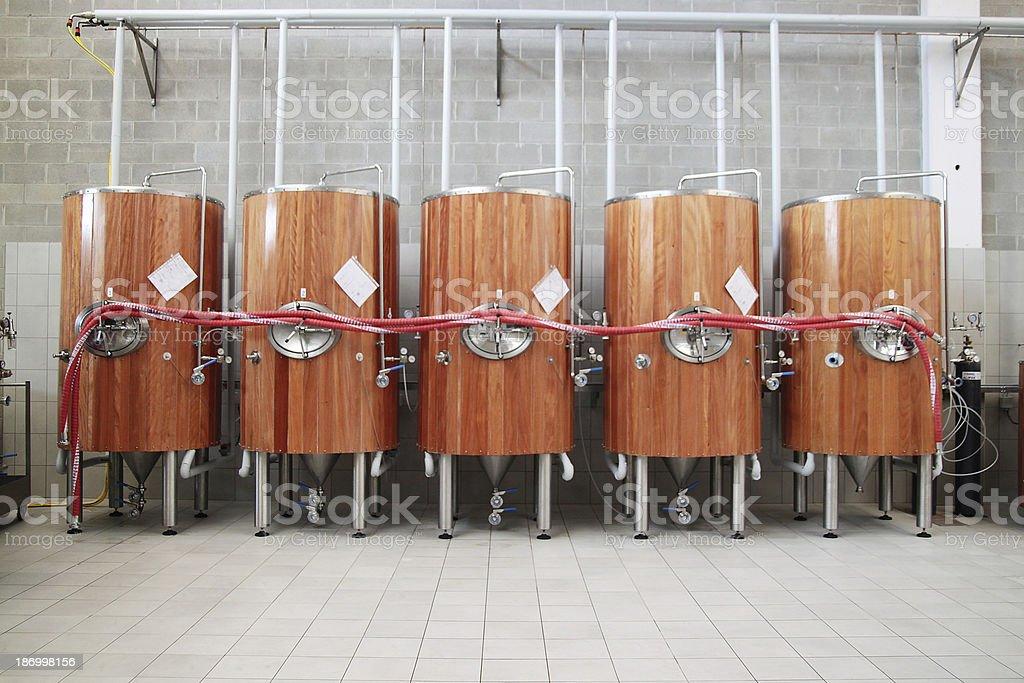 Fermentation tanks stock photo