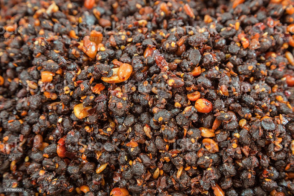 fermented soy bean royalty-free stock photo
