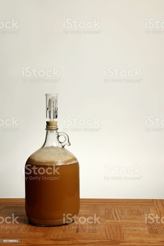 Fermenting Homebrew Beer stock photo