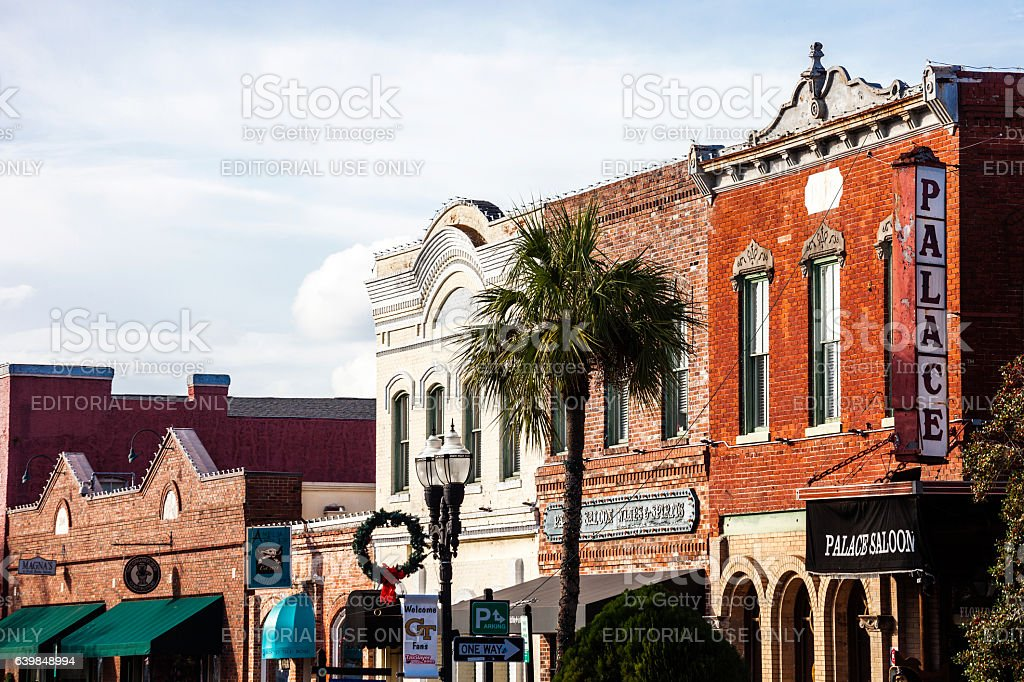 Fernandina Beach, Amelia Island, Florida. stock photo