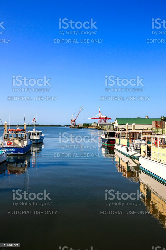 Fernandina Beach City Marina on the St. Mary's River, Florida stock photo