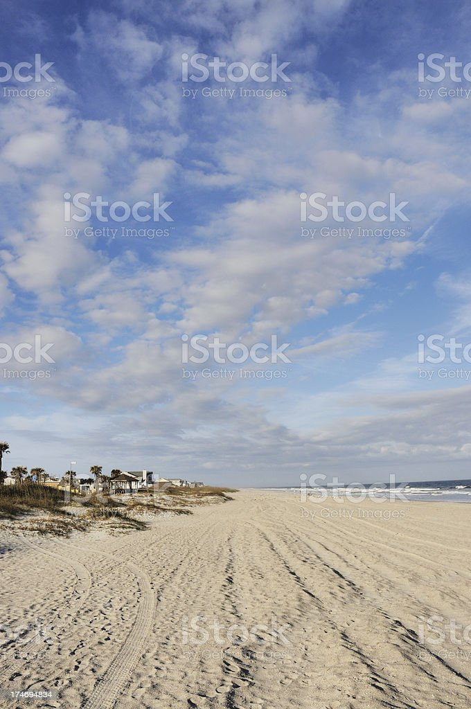 Fernandina Main Beach on Amelia Island Florida stock photo
