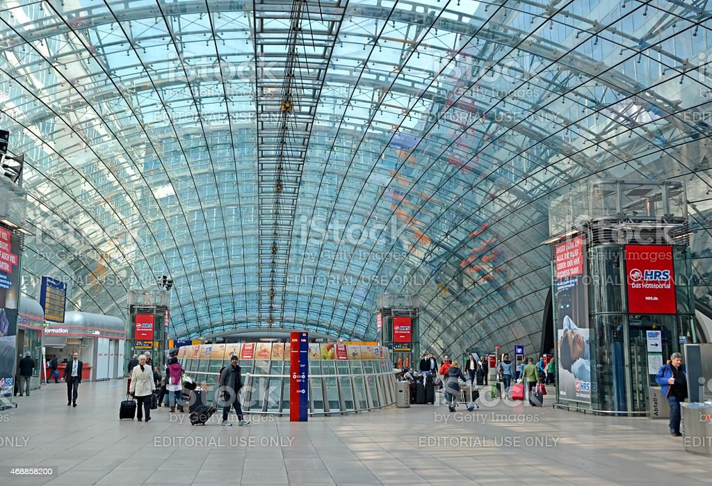 Fernbahnhof Frankfurt stock photo