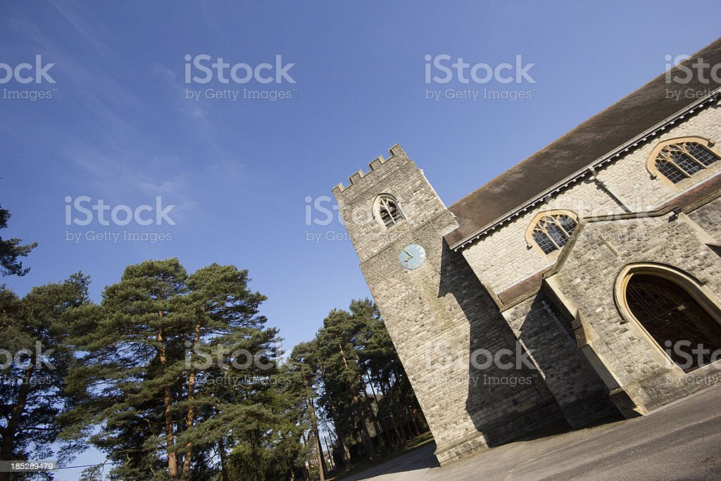 Ferndown St Mary's Church in Dorset, England stock photo