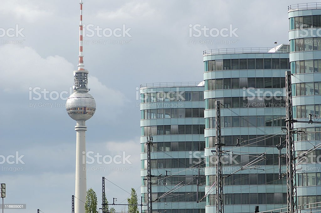 Fernsehturm Berlin royalty-free stock photo