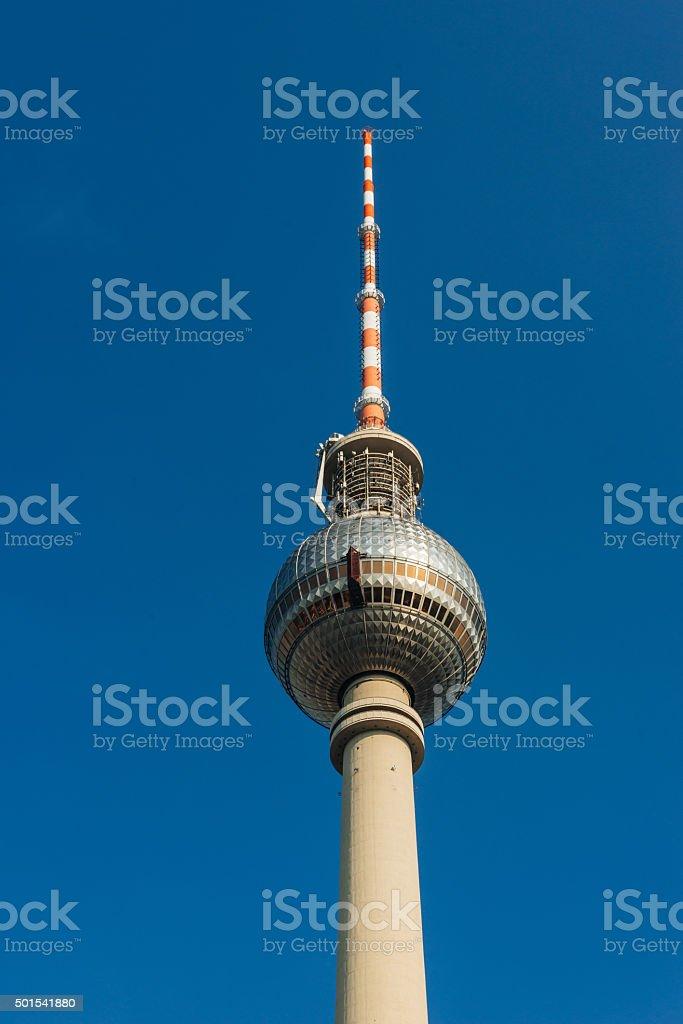 Fernsehturm Berlin - TV tower in Alexanderplatz in Berlin, Germany stock photo