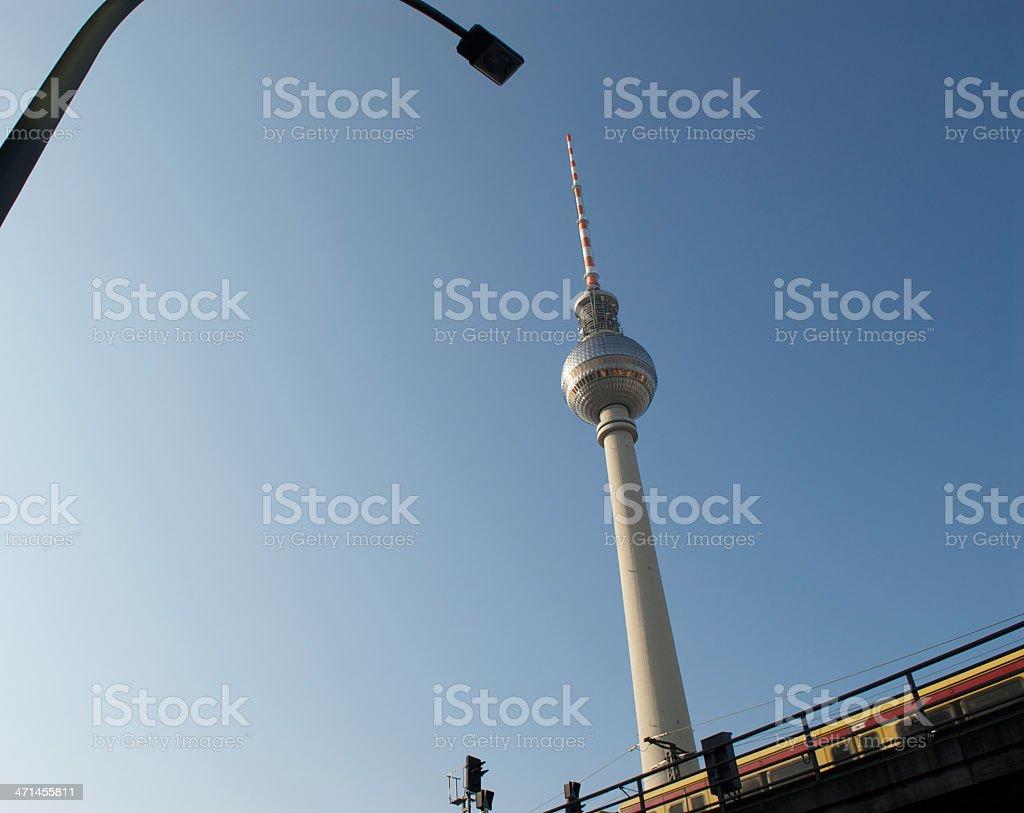 Fernsehturm in Berlin stock photo
