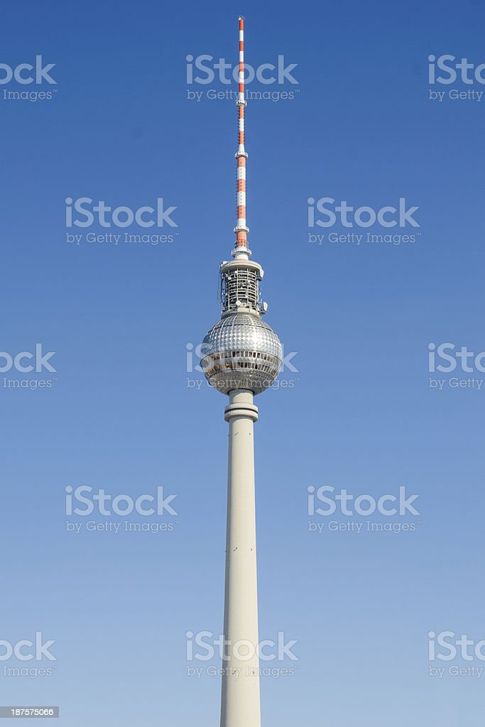 Fernsehturm - television tower in Berlin stock photo