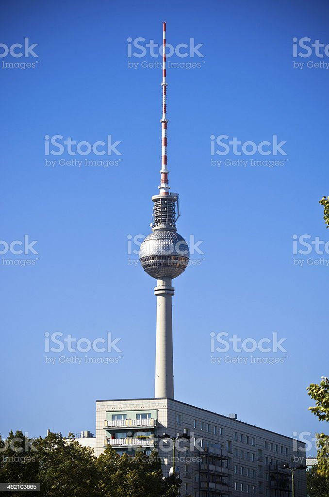 Fernsehturm tower in Berlin, Germany royalty-free stock photo