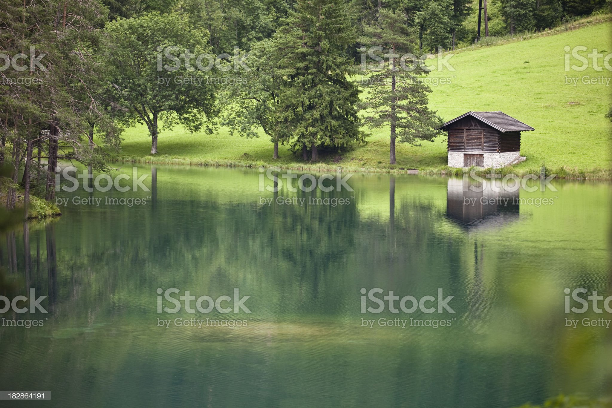 Fernsteinsee - Lake in the Austrian alps royalty-free stock photo