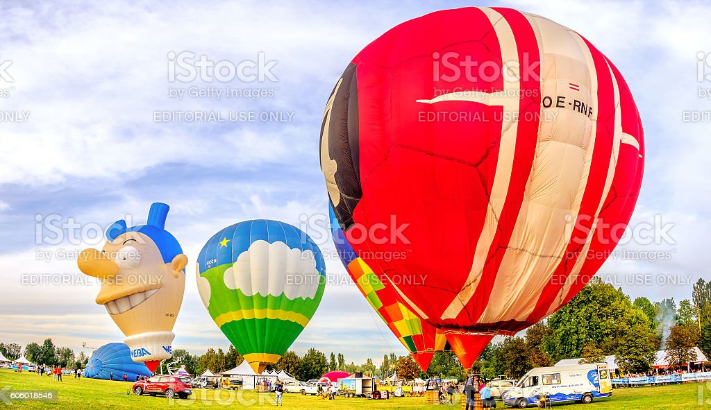 Ferrara Balloning Festival Italy stock photo