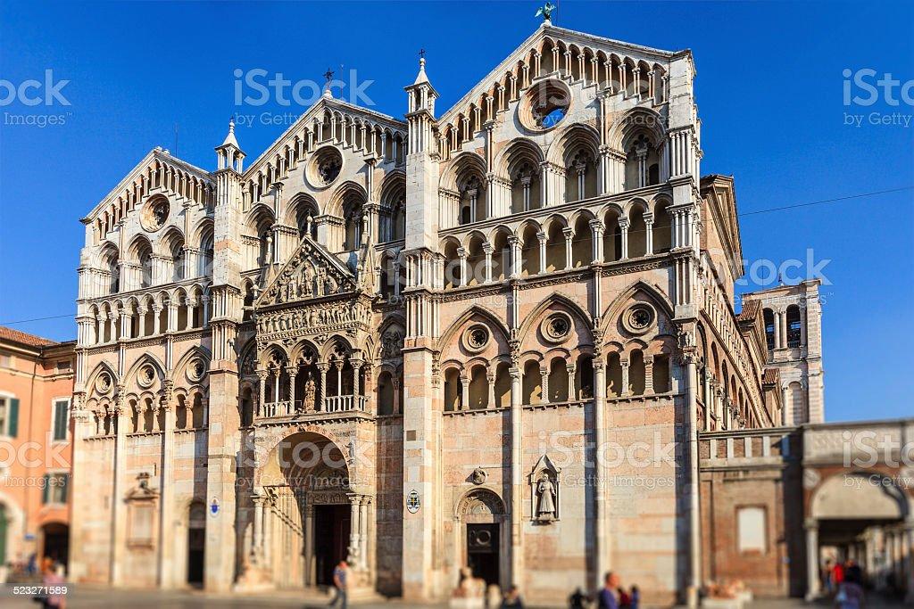 Ferrara Cathedral, Italy stock photo
